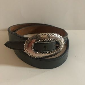 Top Grain Cowhide Justin leather deep gray belt